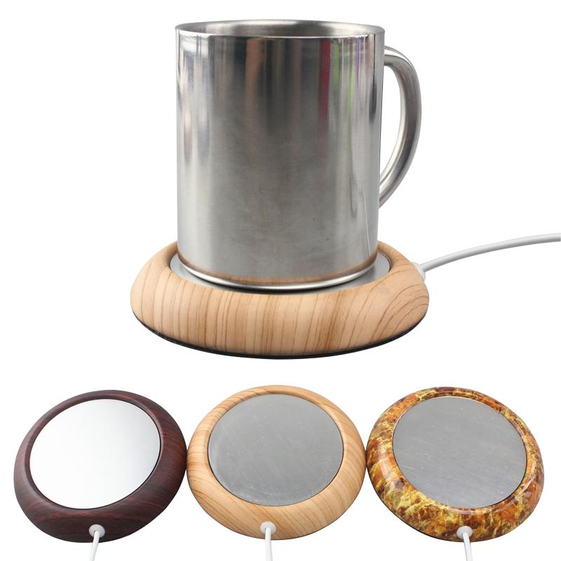 Walnut Wood Grain Usb Cup Warmer Pad Coffee Tea Milk Hot Drinks ...