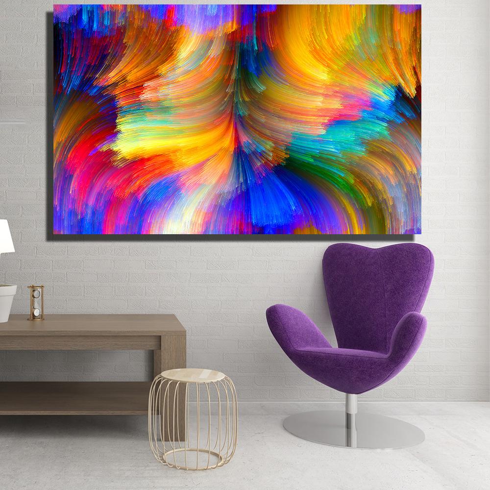 Compre Lienzos Modernos Pintura Al Óleo Abstracto Abstracto ...