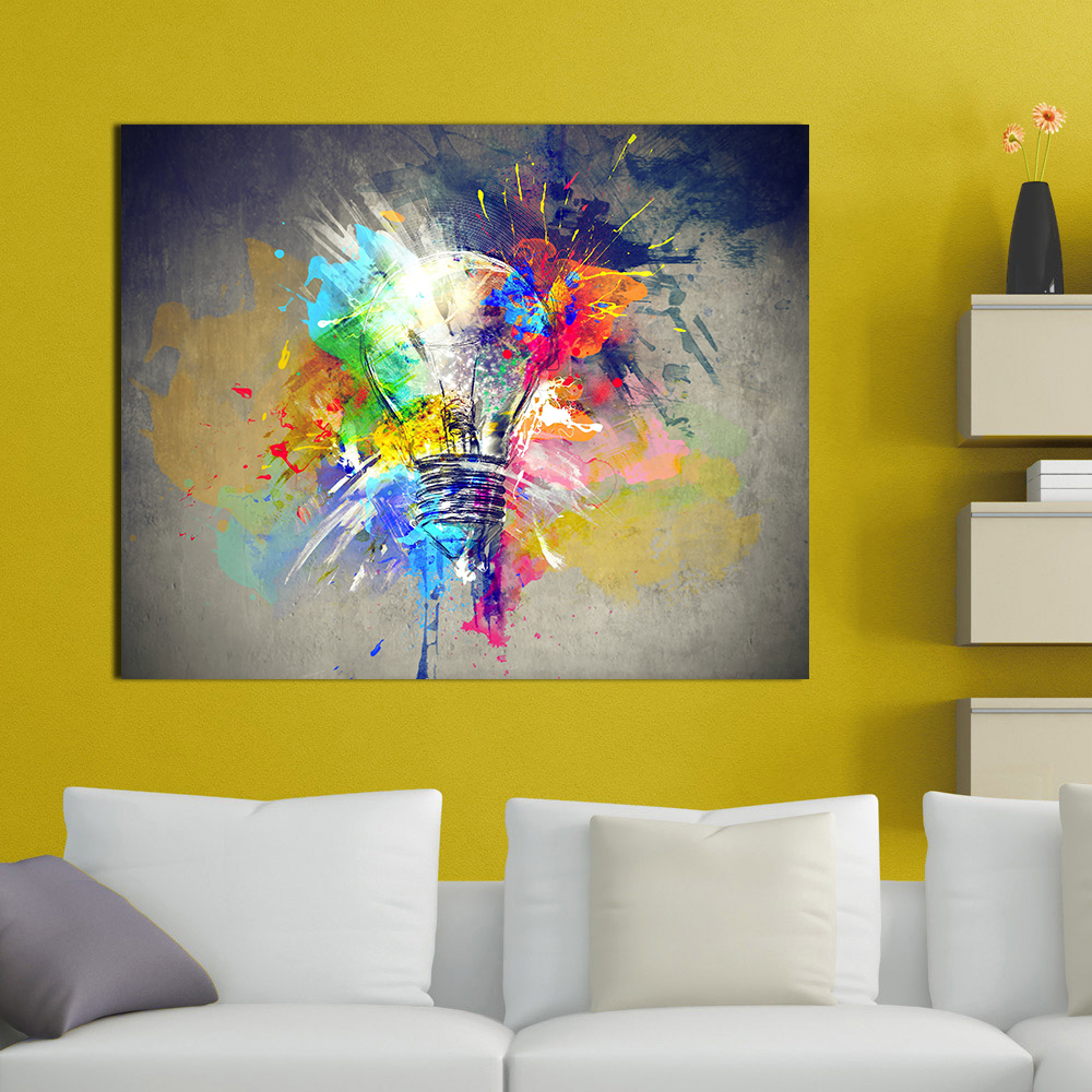 2018 Wall Picture Wall Art Canvas Prints Lighting Colorful Oil ...