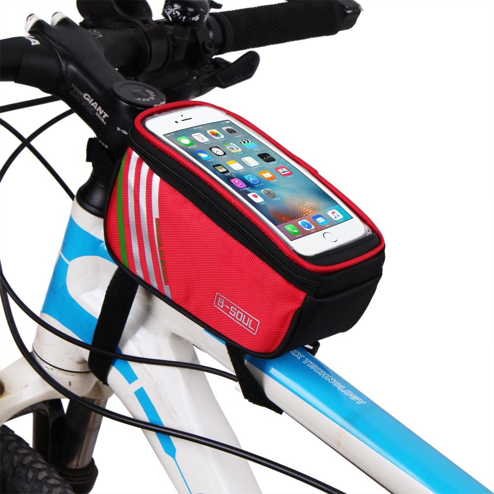 2018 Bike Frame Bag /Phone Bag 5.7inch Bicycle Front Bag Touchable ...