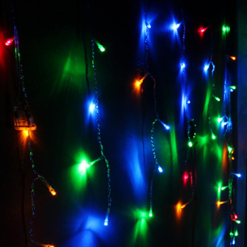 4M Drop 0.6M Led Curtain Icicle String Lights 220V ...