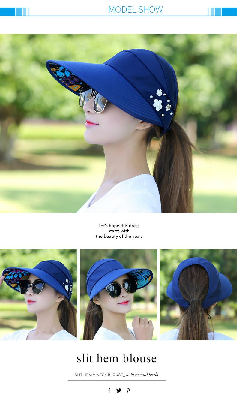 aa78e25a5fa Women Wild Travel Uv Korean Summer Foldable Sun Hat Hat Hats Caps ...