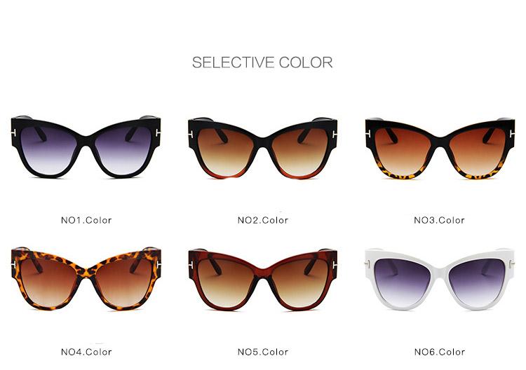 ff6e762d5a Lujo Vintage Gradient Points Gafas de sol Tom High Designer Designer Marcas para  mujeres Gafas de sol Cateye oculos de sol feminino