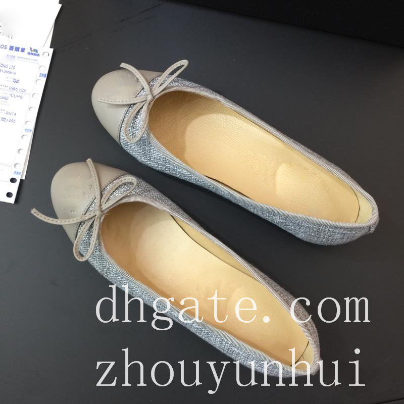 00f8cdbe3f23 2018 New Arrival Luxury Women s Flat Bow Leather Lace Flat Ballet ...