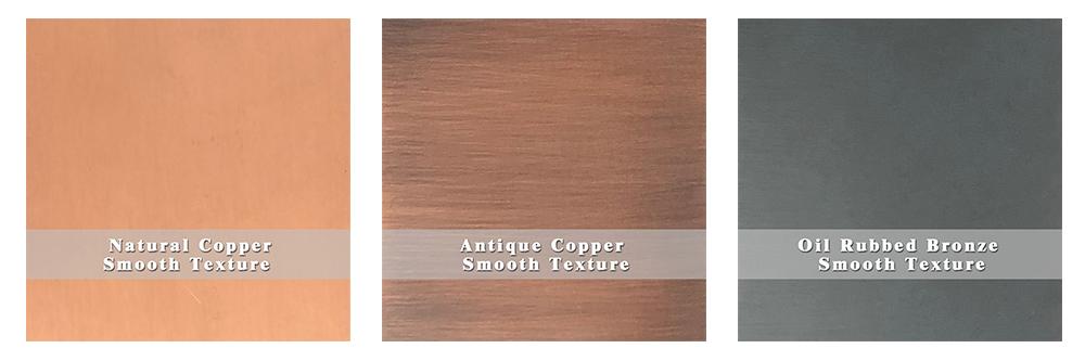 sinda copper finish