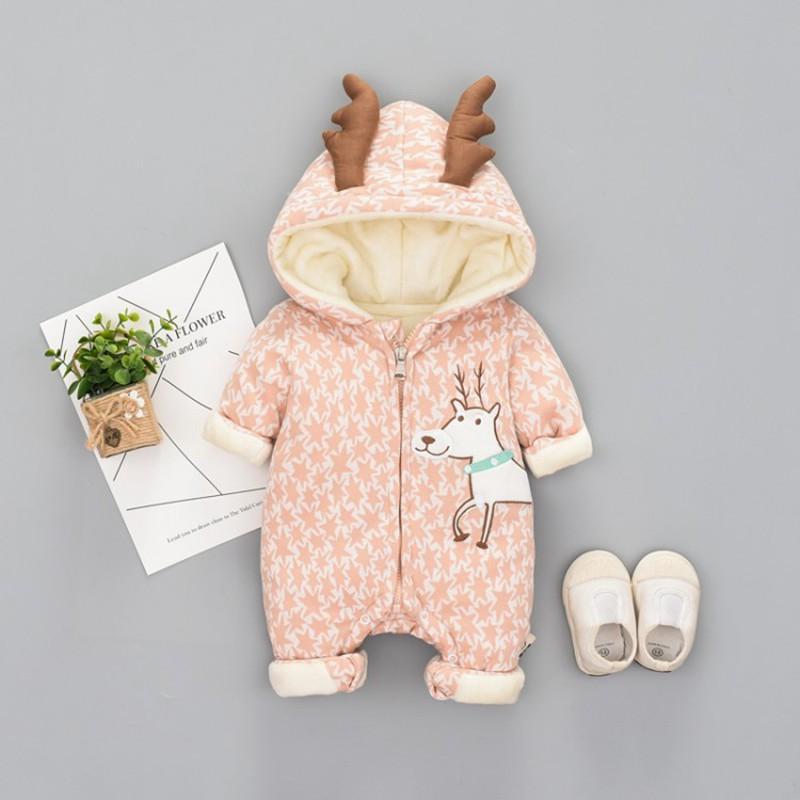 100fe7878 2019 66 90cm Newborn Baby Clothes Cute Christmas Deer Ear Winter ...