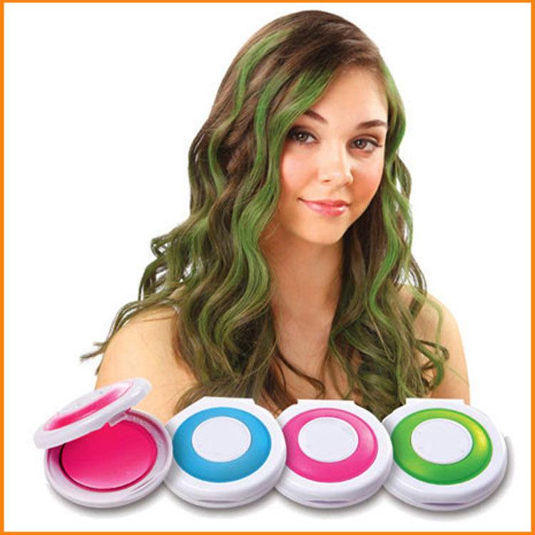 Easy To Clean Hot Huez Temporary Hair Chalk Hair Coloring Powder
