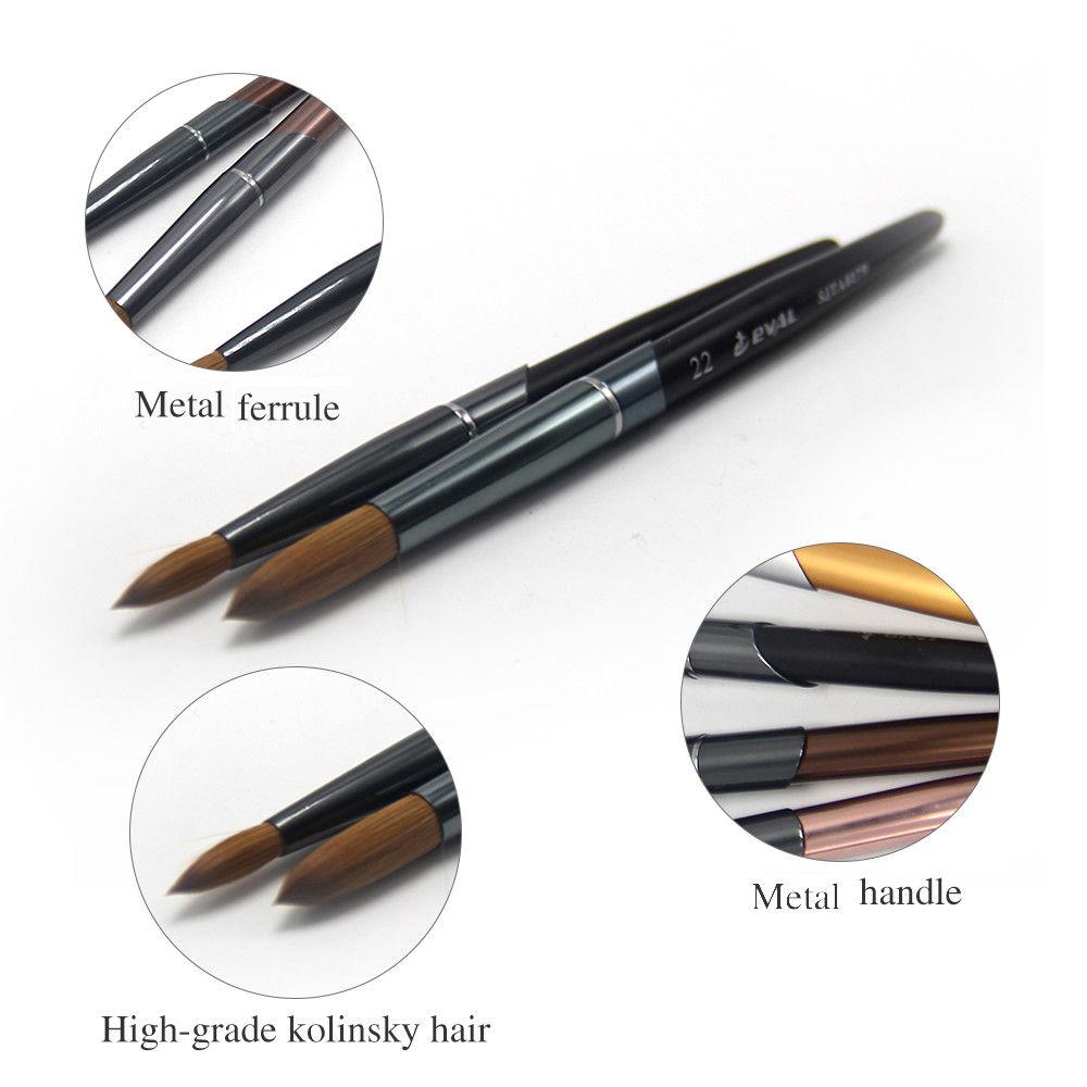 Kolinsky Brush Acrylic Metal Handle Nail Art Design Paint