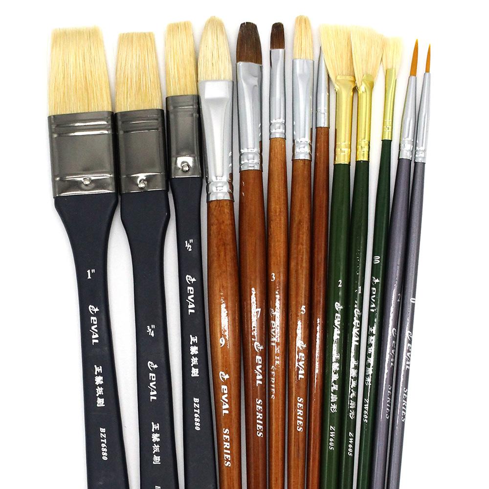 13PCS Acrylic Paint Brushes Set For Watercolor Gouache Oil