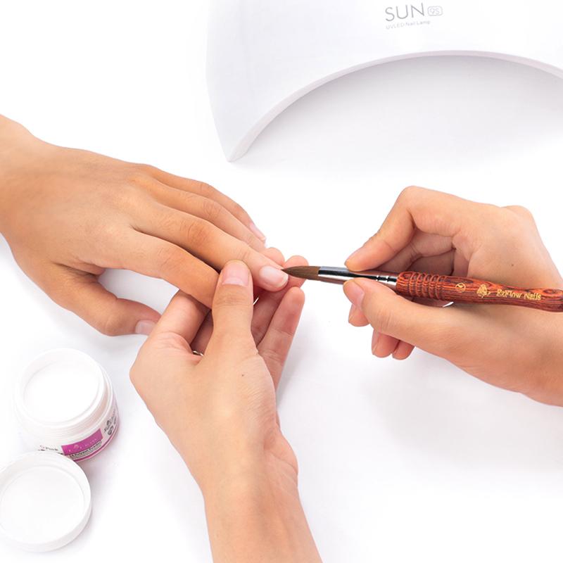 100% Kolinsky Sable Hair Acrylic Nail Brush Crystal Salon