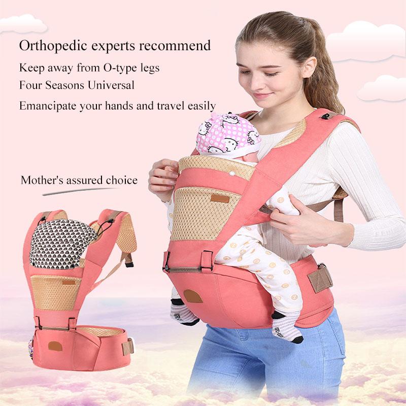 Babytrage mit Sitz auf der Ebene der Hüften Rucksack Baby