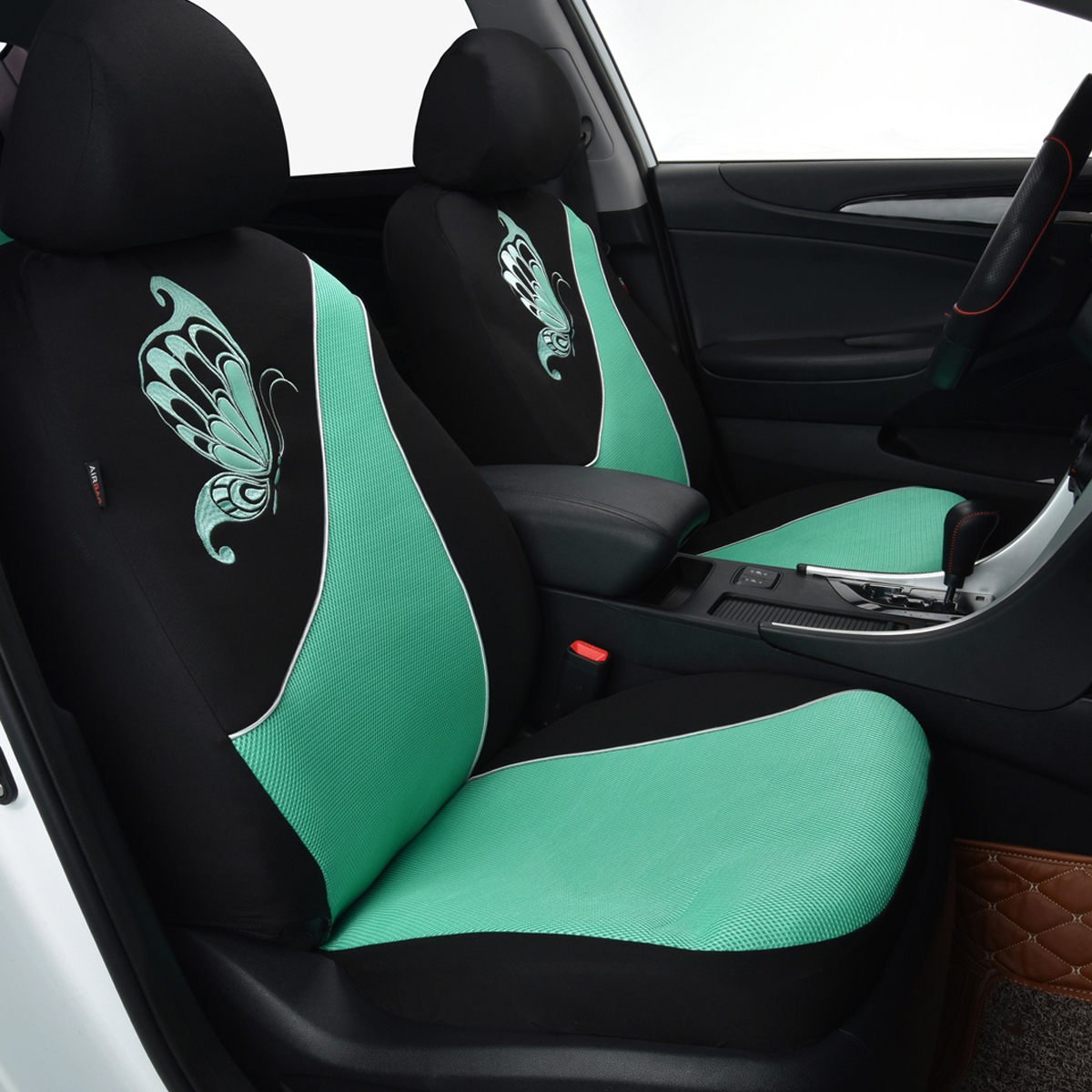 Car Bench Seat Covers >> NEW Car Seat Covers set low back Universal Flying banner Breathable mint blue 712190765712   eBay