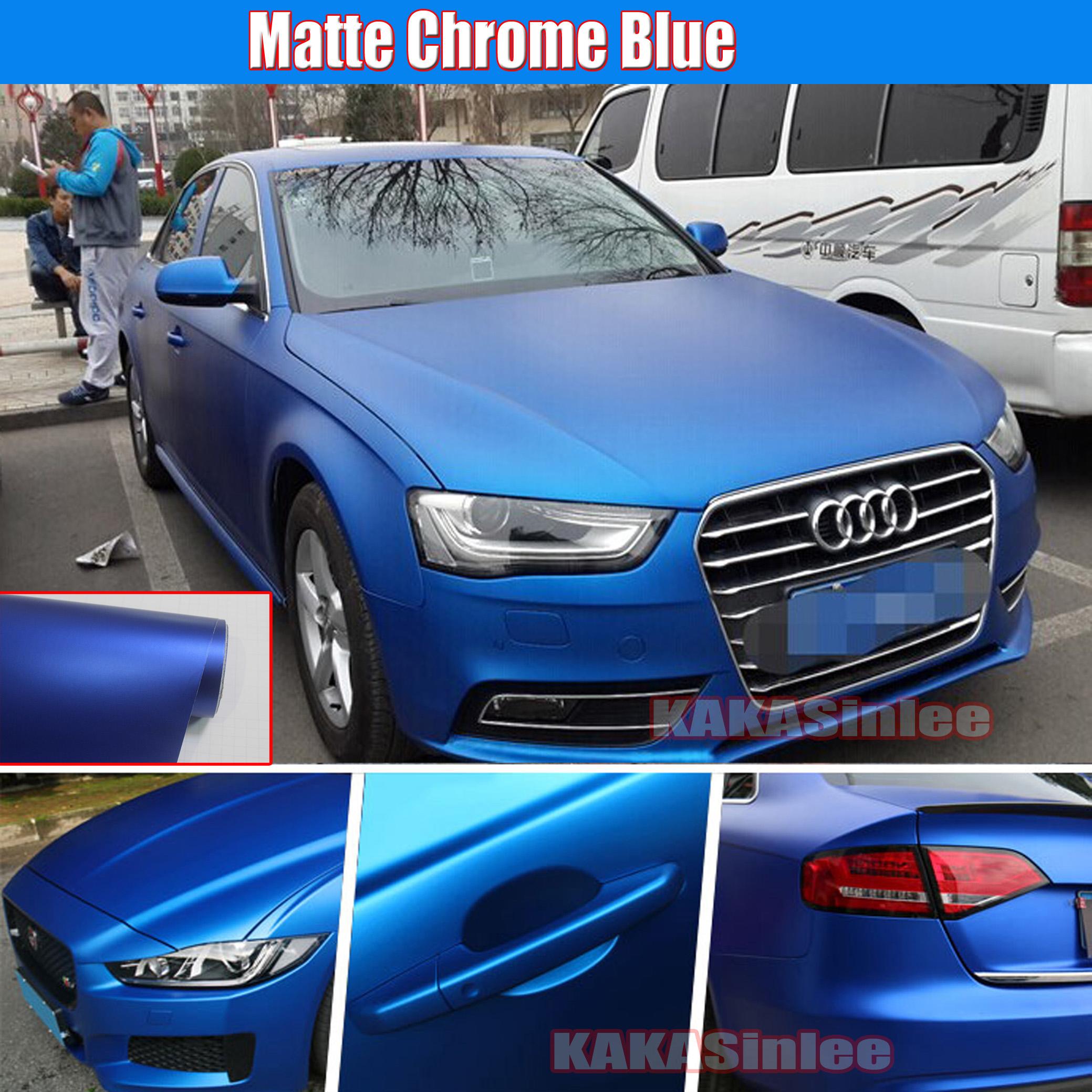 Matte Blue Car >> Details About Multiple Car Satin Matte Metallic Chrome Vinyl Wrap Sticker Stretchable Blue Cf