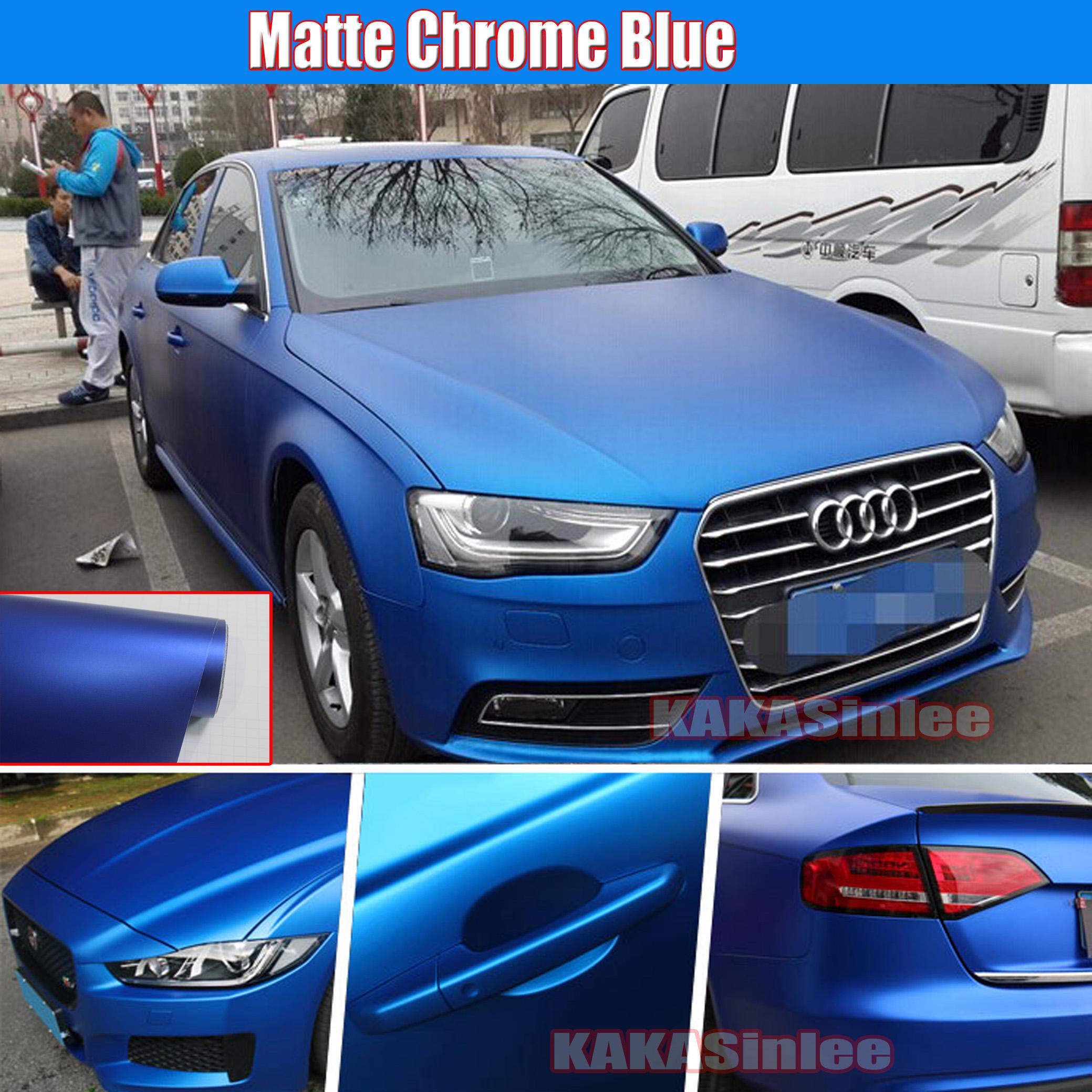 Matte Blue Car >> Details About 12 X 60 Cool Car Wrap Metallic Satin Matte Metal Chrome Vinyl Sticker Blue Hd