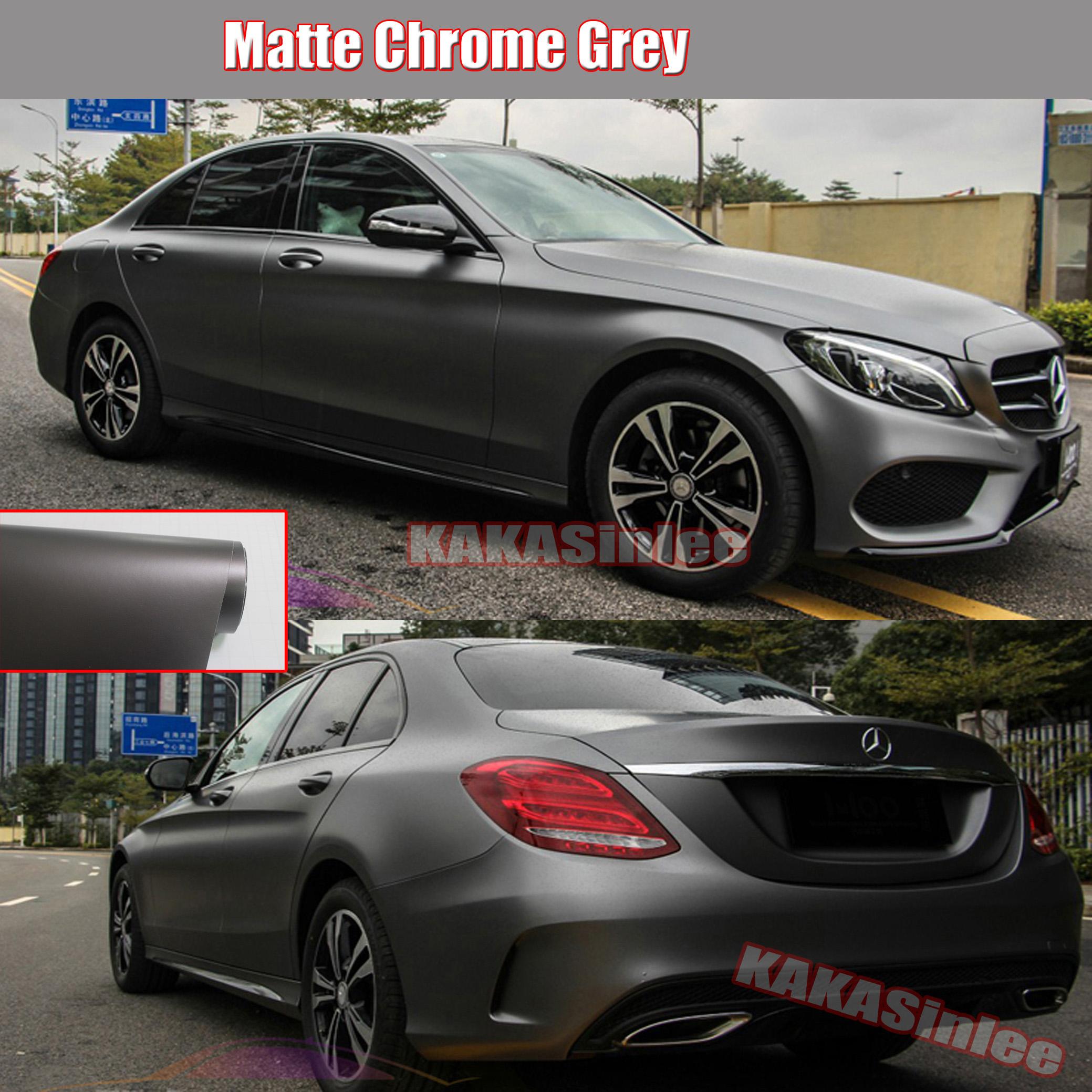 Matte Grey Car >> Details About 12 X 60 Cool Car Wrap Metallic Satin Matte Metal Chrome Vinyl Sticker Grey Hd