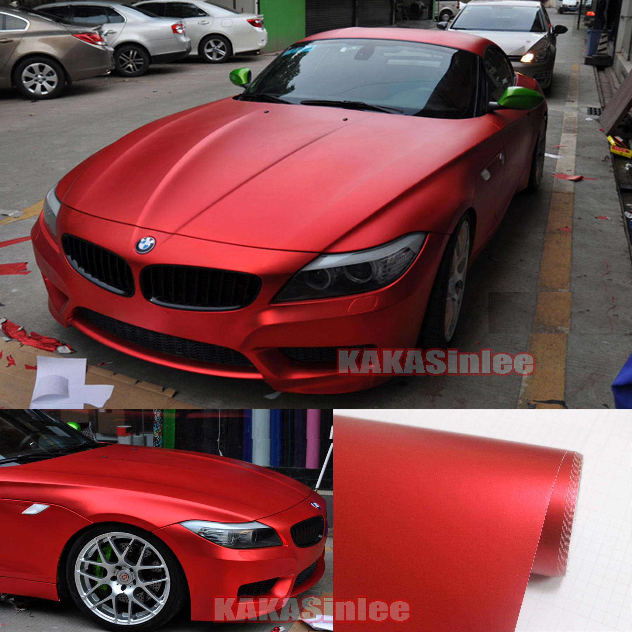 Red Satin Matte Metal Chrome Vinyl Wrap Sticker Decal Tape Car House Decors Cb Ebay