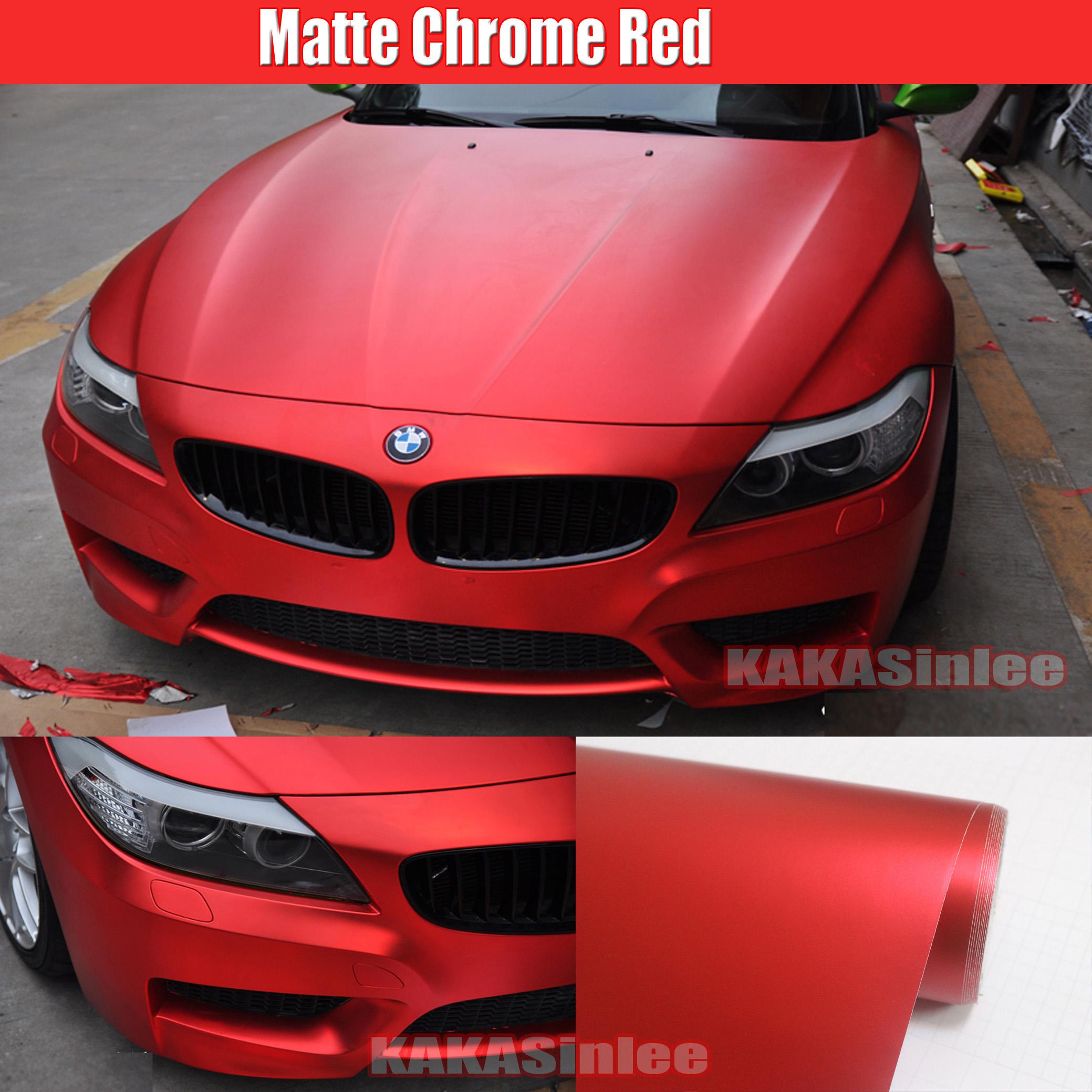 Style Car Satin Matte Metal Metallic Chrome Vinyl Wrap Sticker Sheet Film HD