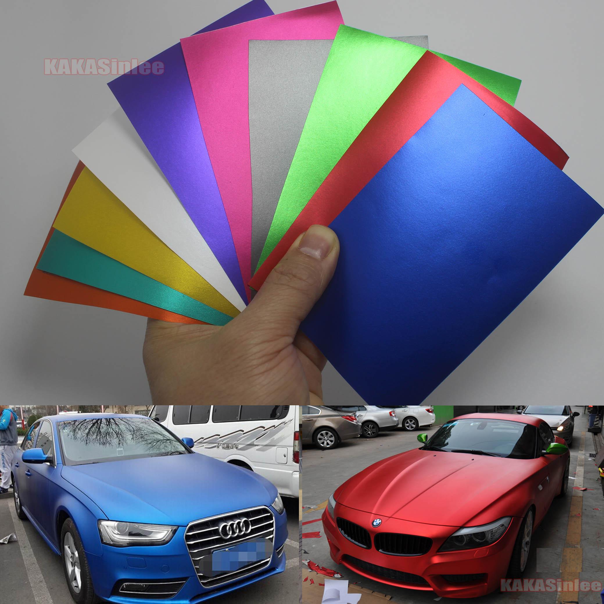 Test Sample 8cm X 12cm Car Metal Satin Matte Chrome