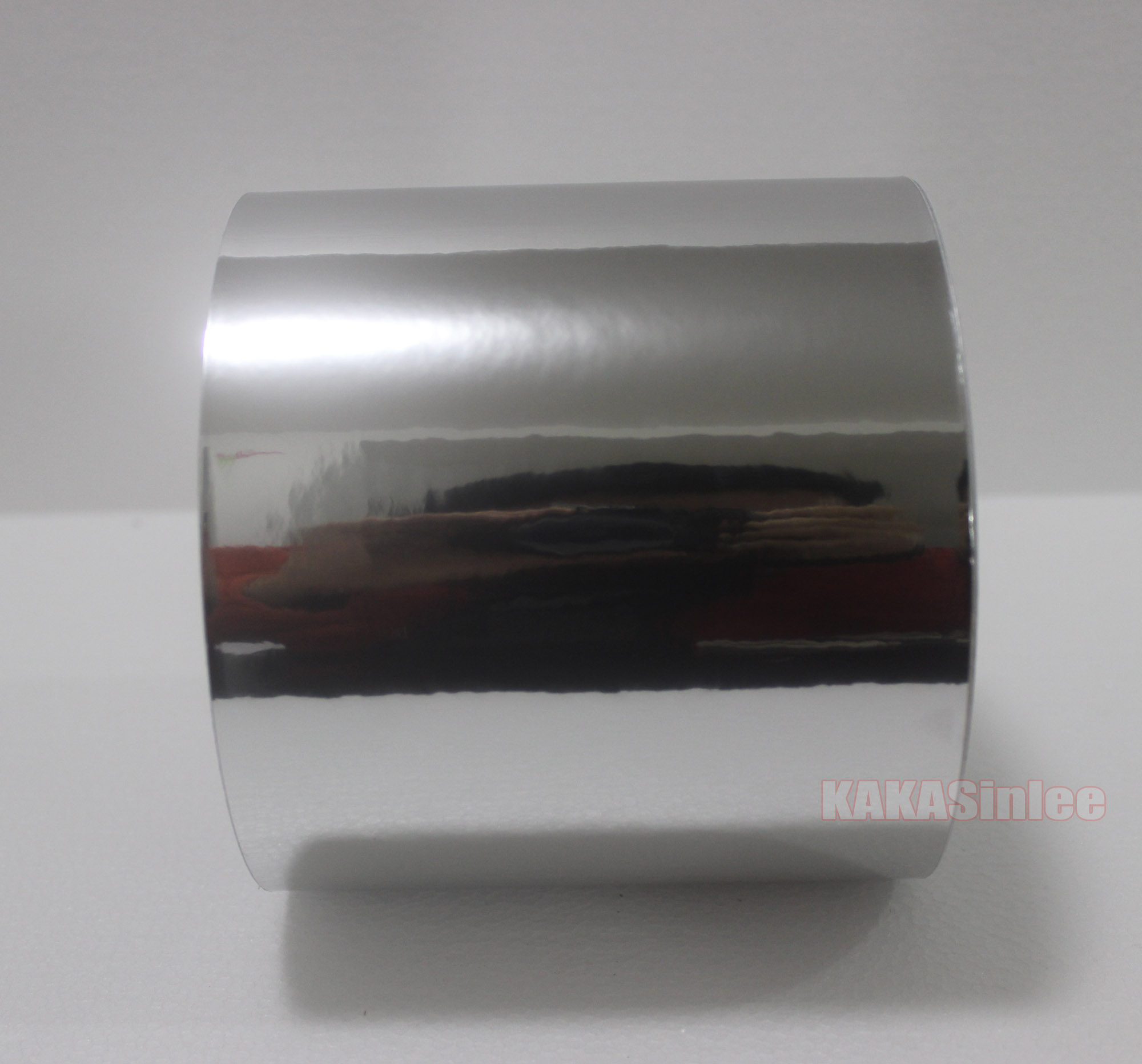 4inch Wide Adhesive Glossy Mirror Chrome Vinyl Wrap Car