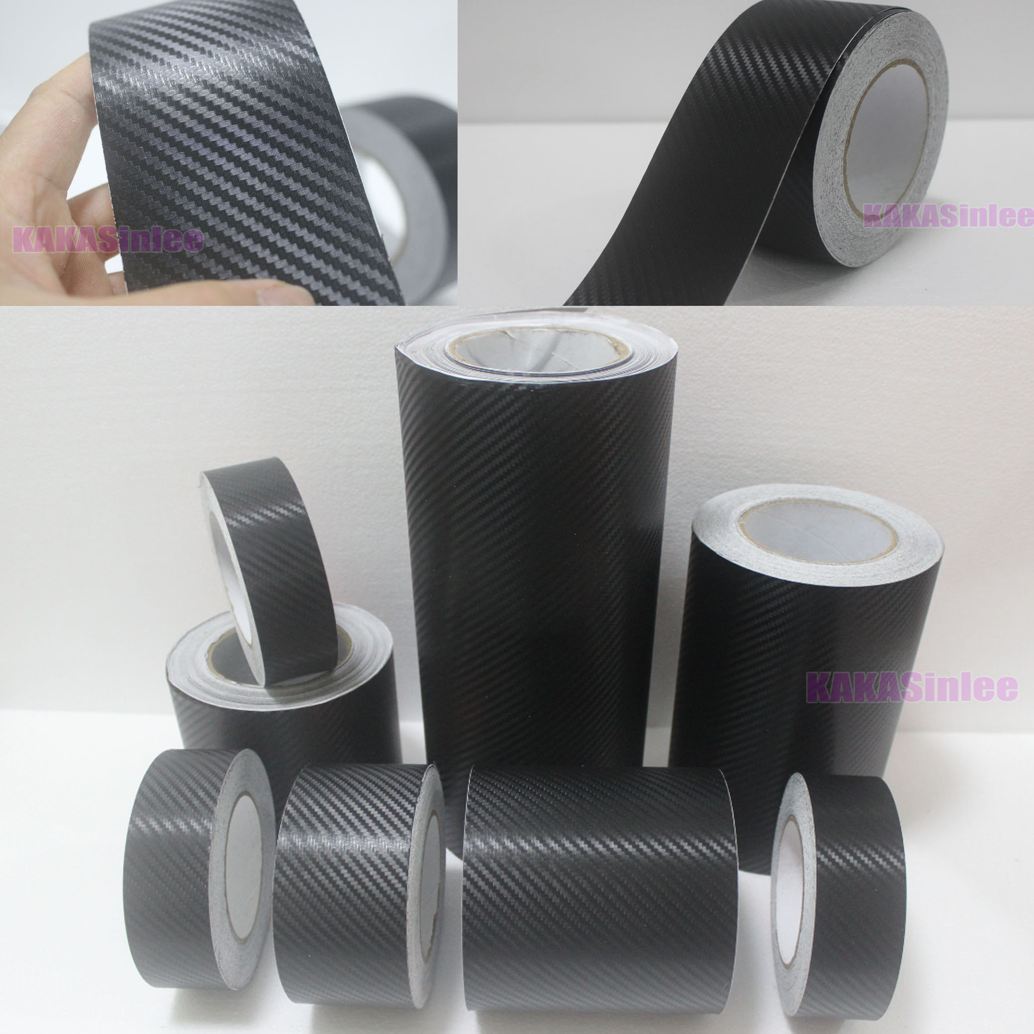 Beauty Tape Adhesive Black 3d Texture Carbon Fiber Vinyl