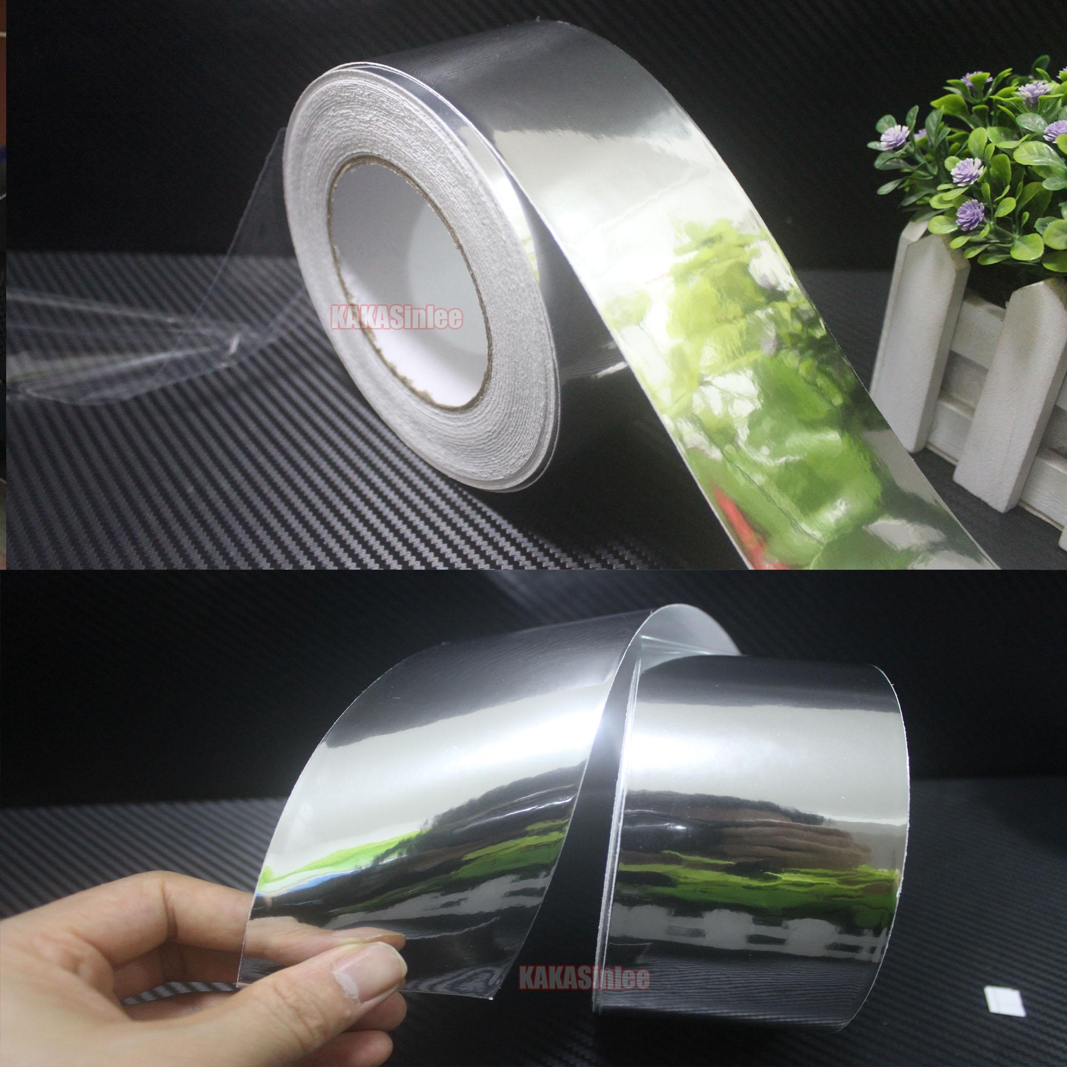 Useful Gloss Mirror Chrome Silver Film Vinyl Tape Car Wrap Sticker Adhesive Foil