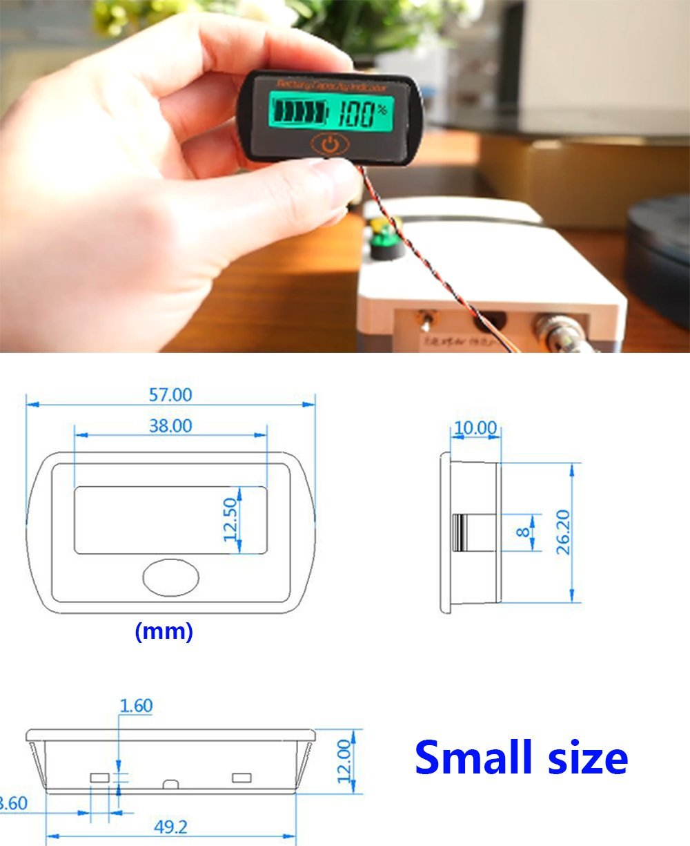 Aili Battery Monitor Capacity Indicator 2in1 Voltage Soc 36v Wiring Diagram Combo Meter Lead Acid 12v 24v