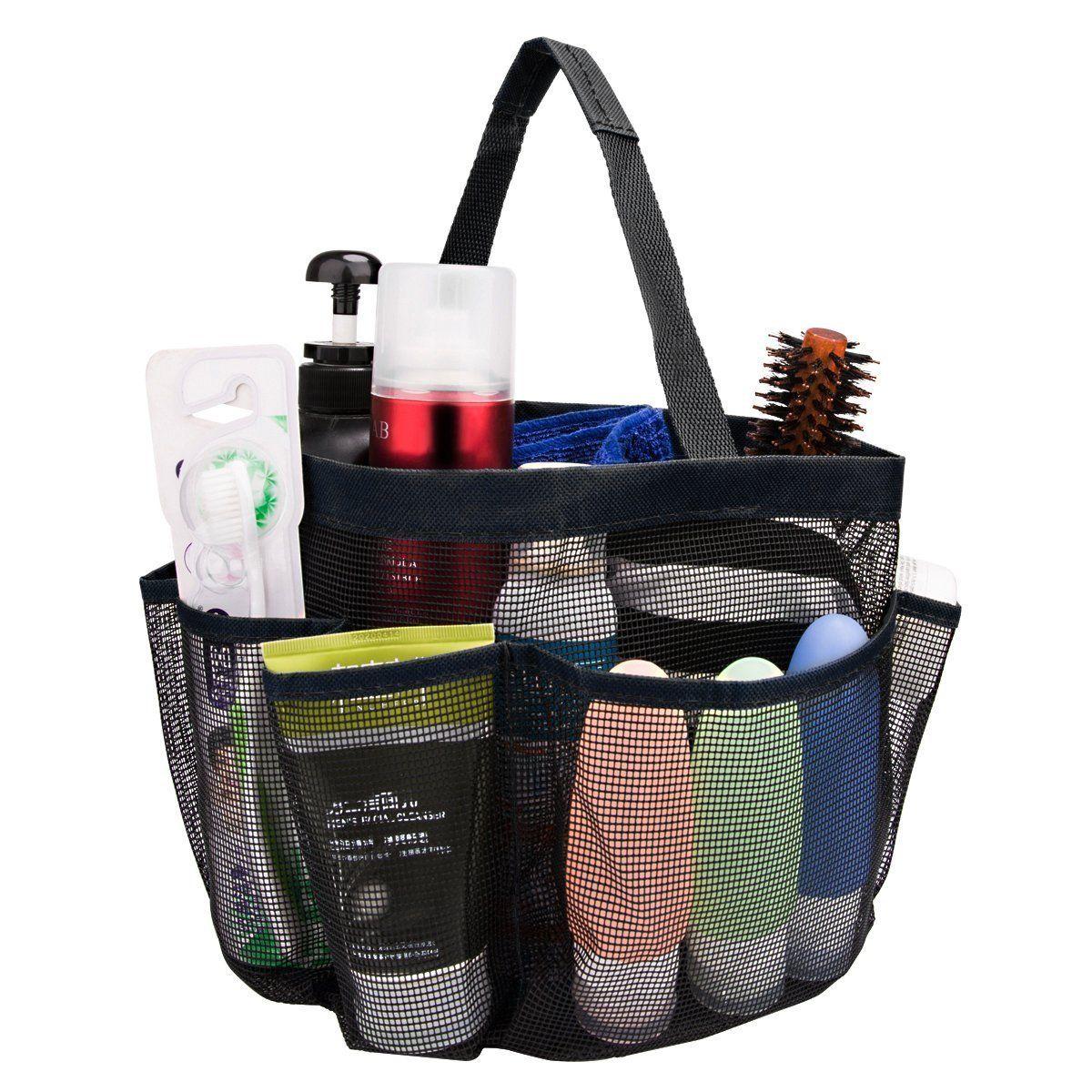 8-Pocket Mesh Shower Caddy Organizer Storage Bag Toiletry Makeup ...