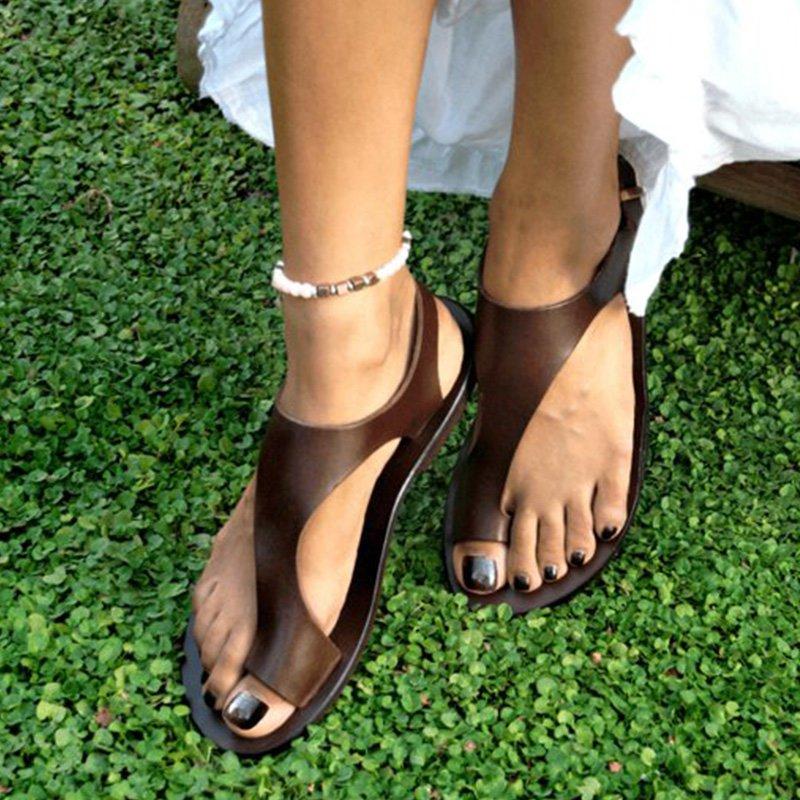 Ladies Summer Flat Low Heel Sandals Peep Toe Slip On Shoes Colour Block Holiday
