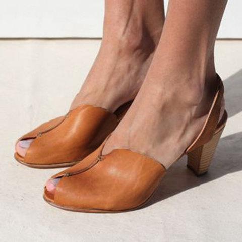 b635d6ec01 Women's Elegant Casual Peep Toe Sandals – RosaMiss