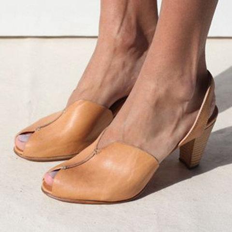 Elegant Casual Peep Toe Sandals
