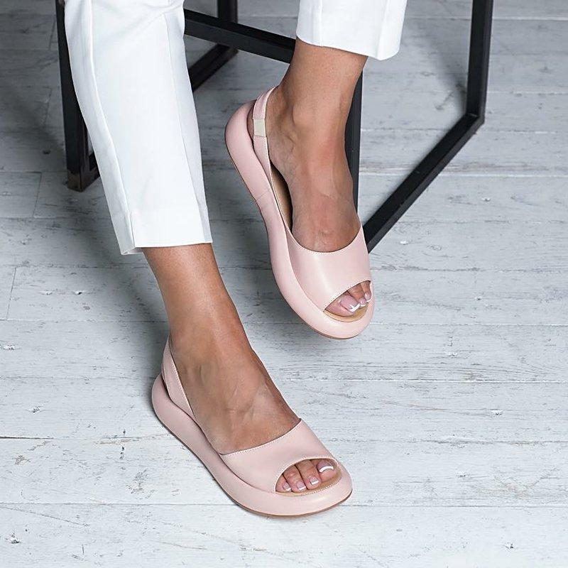 c84b94b73 Upper Material:Faux Leather Sandals Style:Footbed Sandals Shoes  Style:Slip-On,Elastic Band Heel Height:Low (<3cm) Toe Type:Peep Toe  Gender:Women