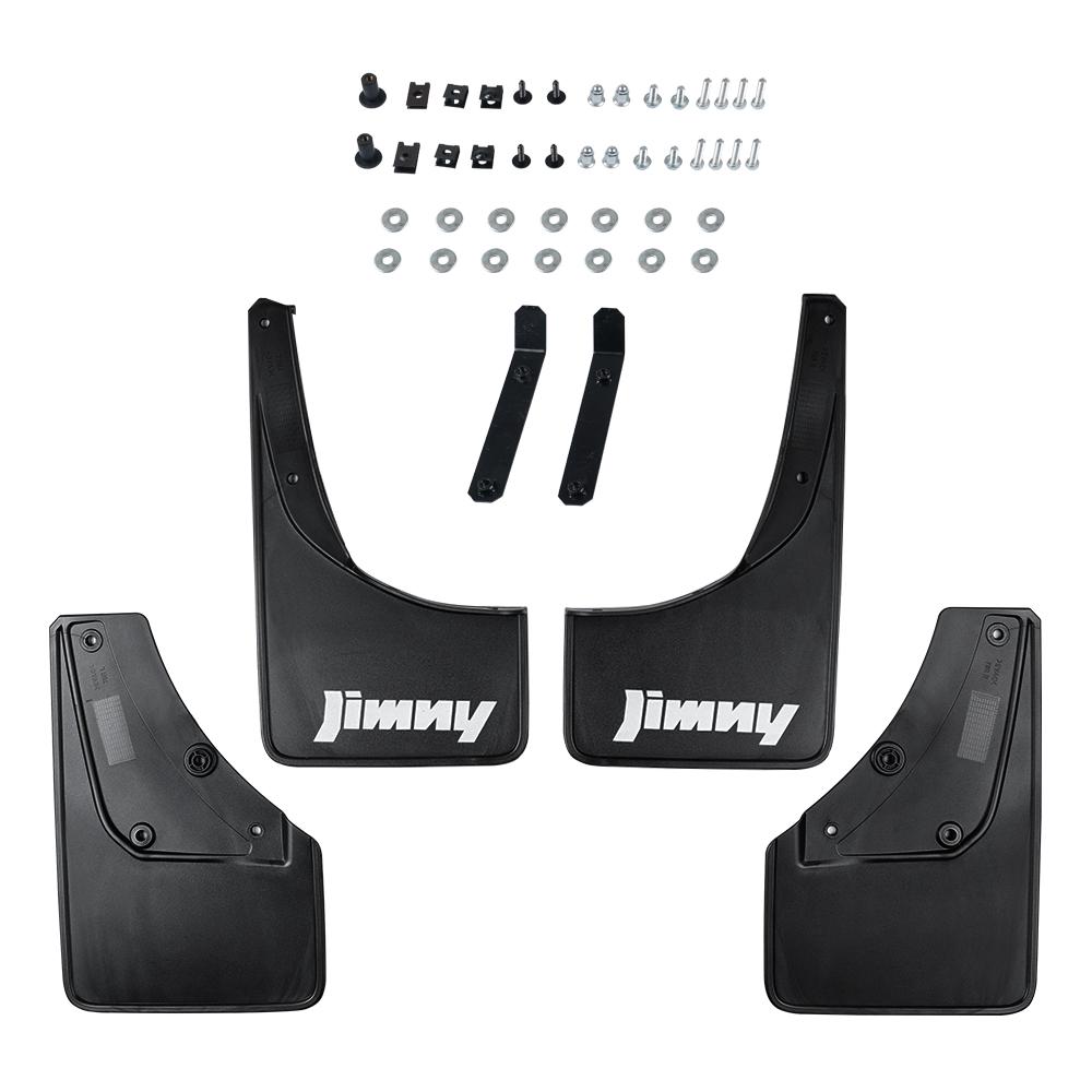 4pcs Mud Flaps Splash Guard Fender Mudguard For Suzuki Jimny JB74W 2018 2019