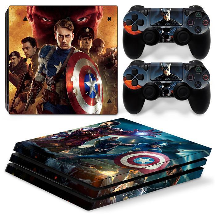 hot Captain America sticker for PS4 Pro
