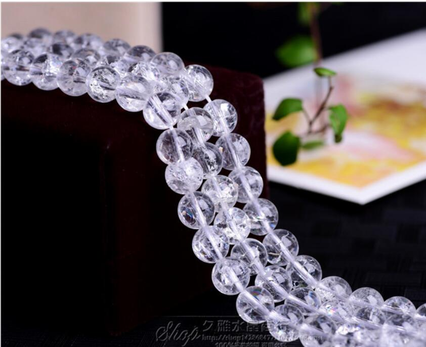 Natural White Rock Quartz Crystal Stone Beads For Jewellery Making Free Shipping