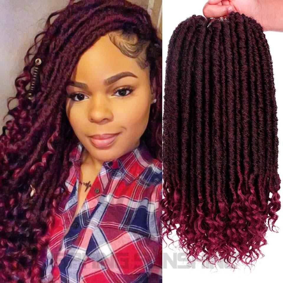 2020 Hot! Goddess Locs Crochet Hair Braids 18 Inch ...