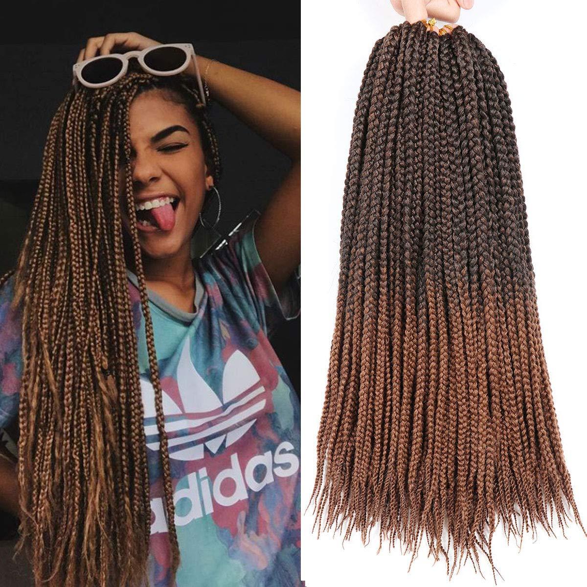 2019 Hot 1packs 18 Inch Medium Box Braids Crochet Hair