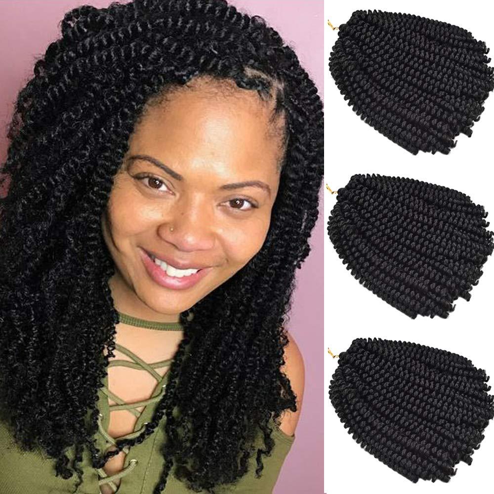 2019 Hot! 3 Pack Spring Twist Crochet Hair 8 Inch Short ...