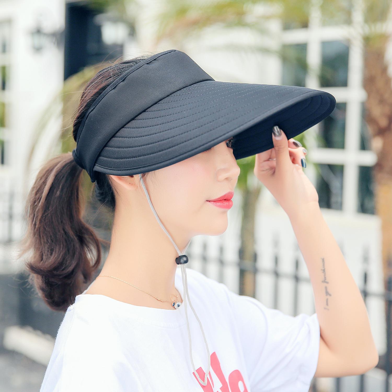 a722d3cc0325 Women Sun Visor Hats Adjustable Golf Sun Headband Hat Wide Brim Summer  Beach Cap