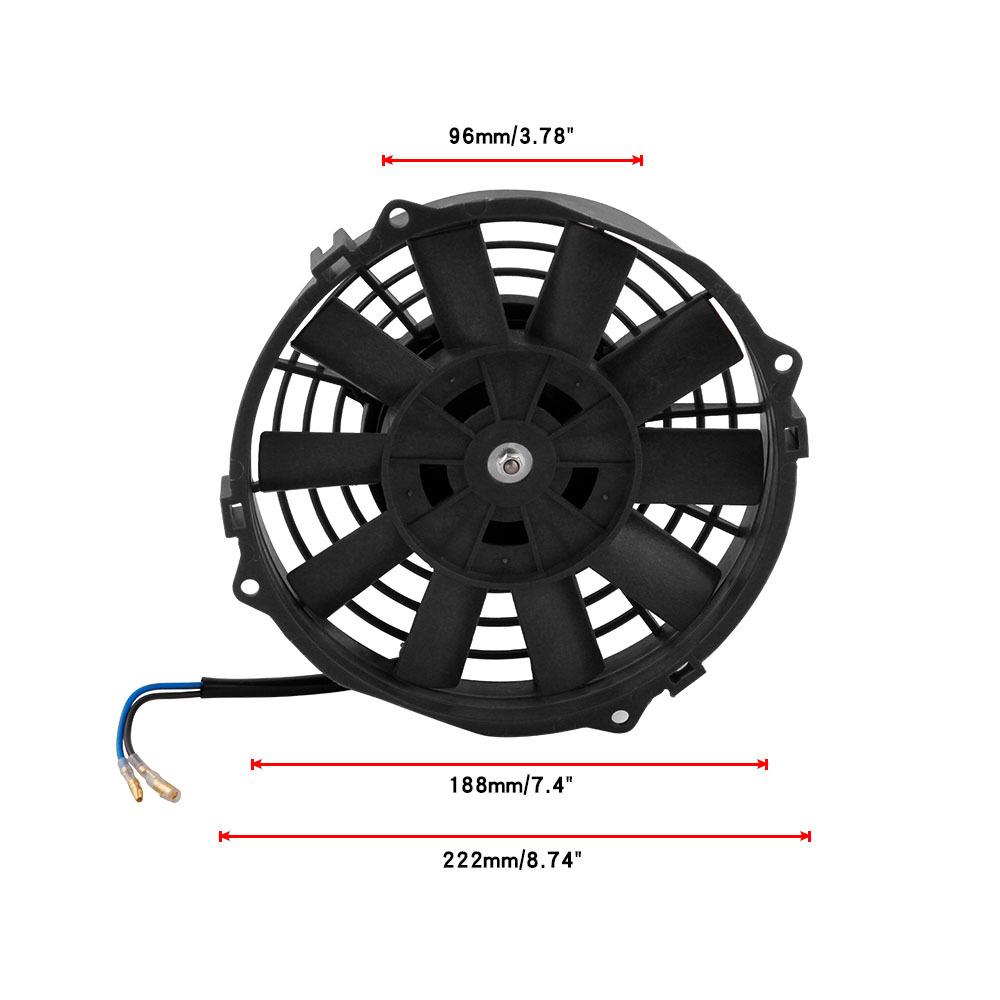 "12V 7/"" Slim Radiator Cooling Thermo Fan /& Mounting kit"
