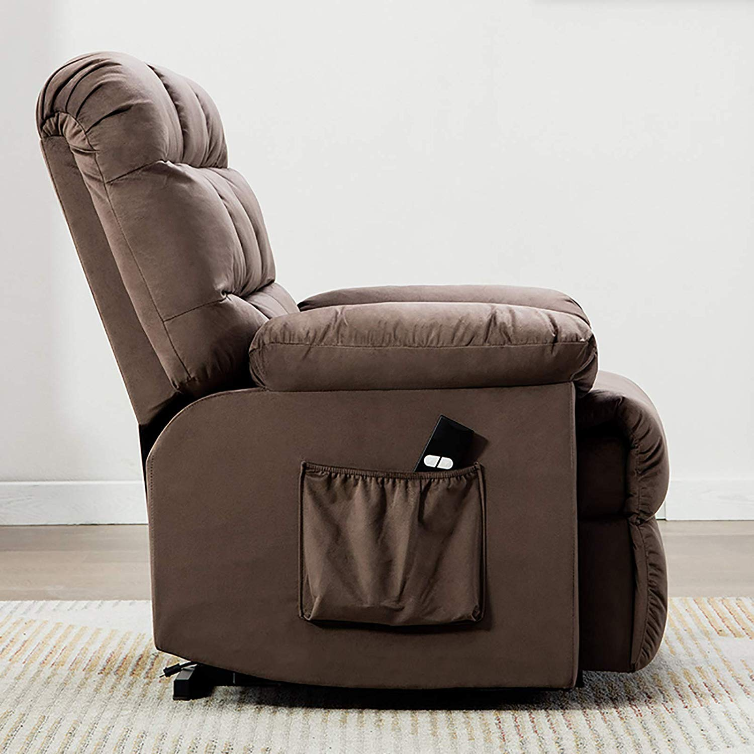 Electric Lift Chair Recliner Thick Backrest Padded Seat ...