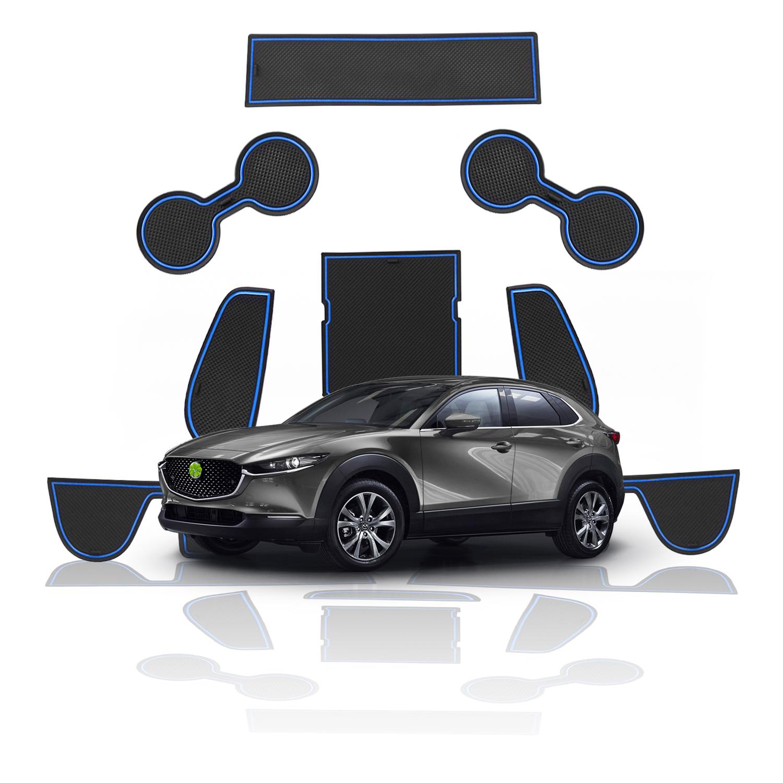 LFOTPP 9PCS 2019 Mazda CX-30 Interior Rubber Mat Console