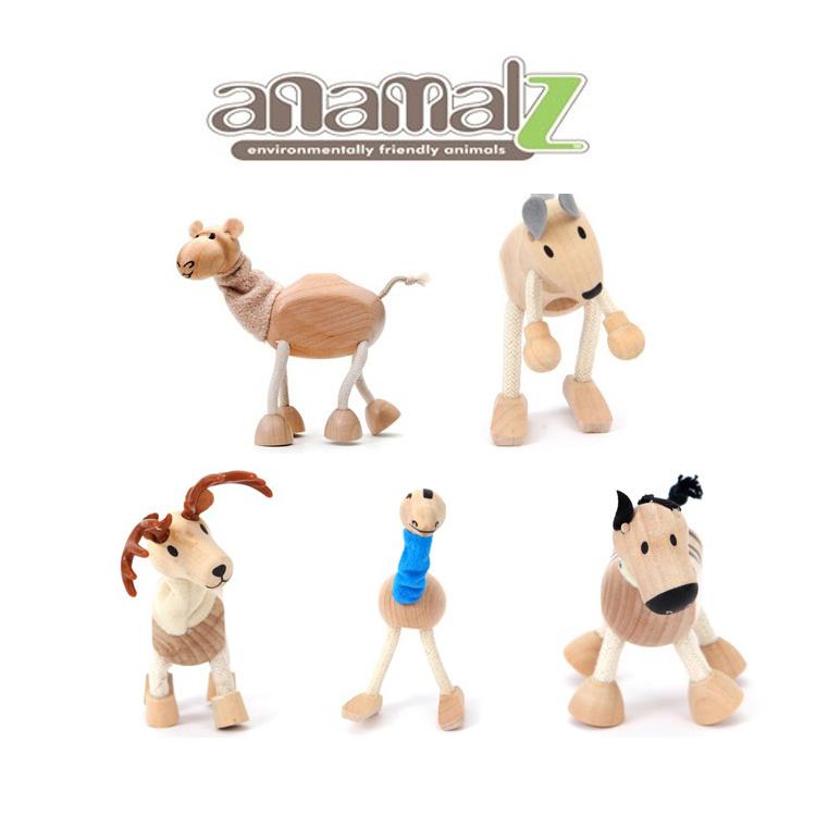 All Natural Anamalz Wood Figure Toy Farm Animals 24 types Kids Toys