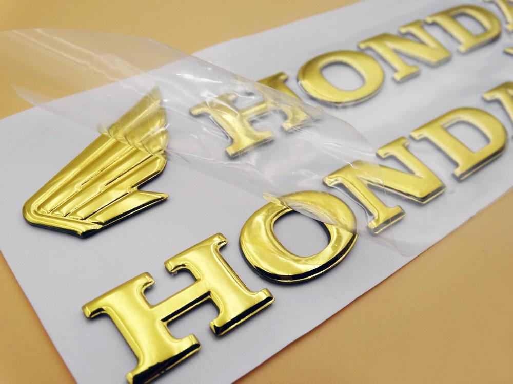 Red 3D Raise Fuel Tank Emblems Decals for Honda Wing CB CBR CBF RC Racing Models