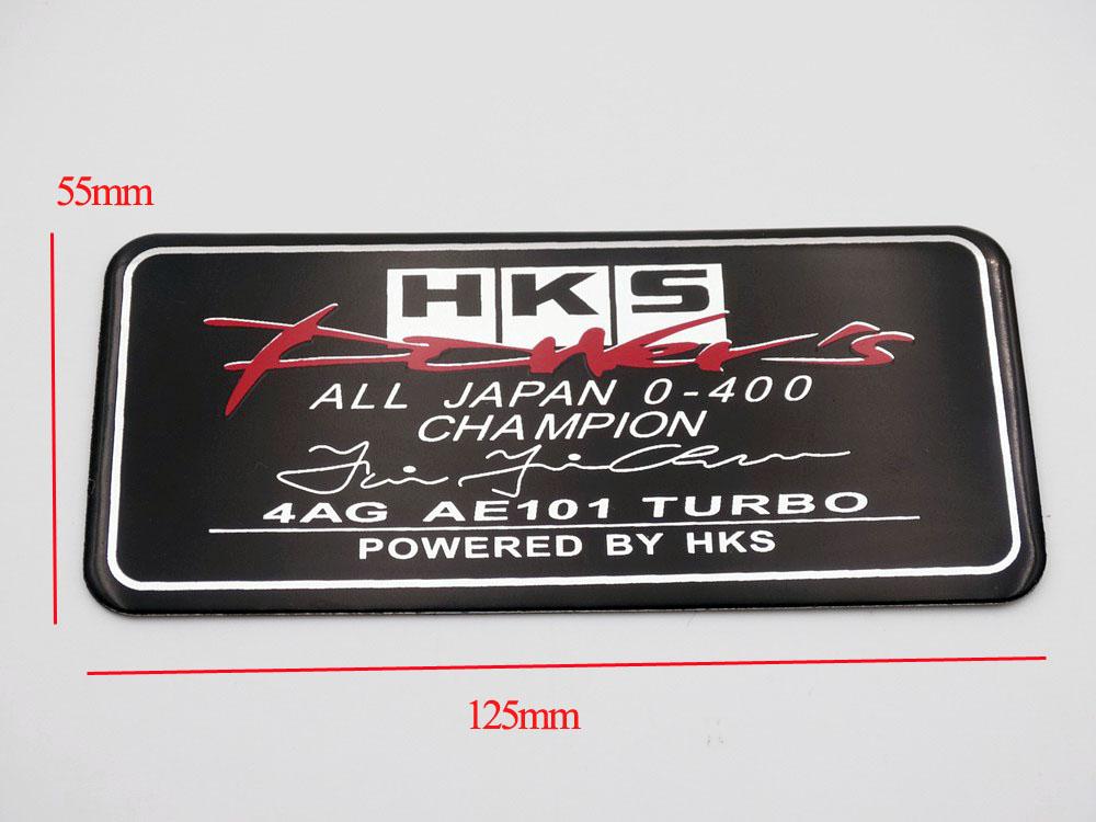 HKS Powered Sports Car Racing Emblem Badges Decal Sticker for Honda Models NEU