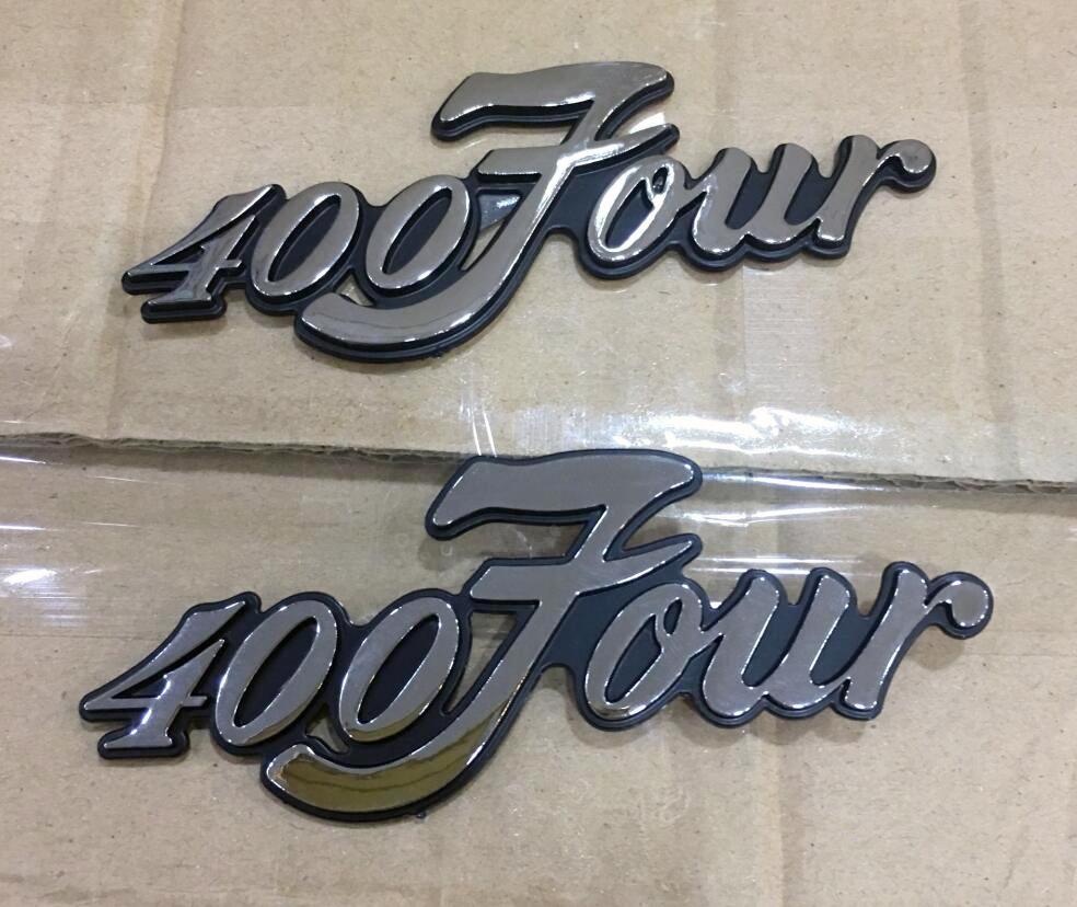 Pair CB400F CB 400 Four CB400 F Decal Badge Side Cover L//R for Honda Super Sport