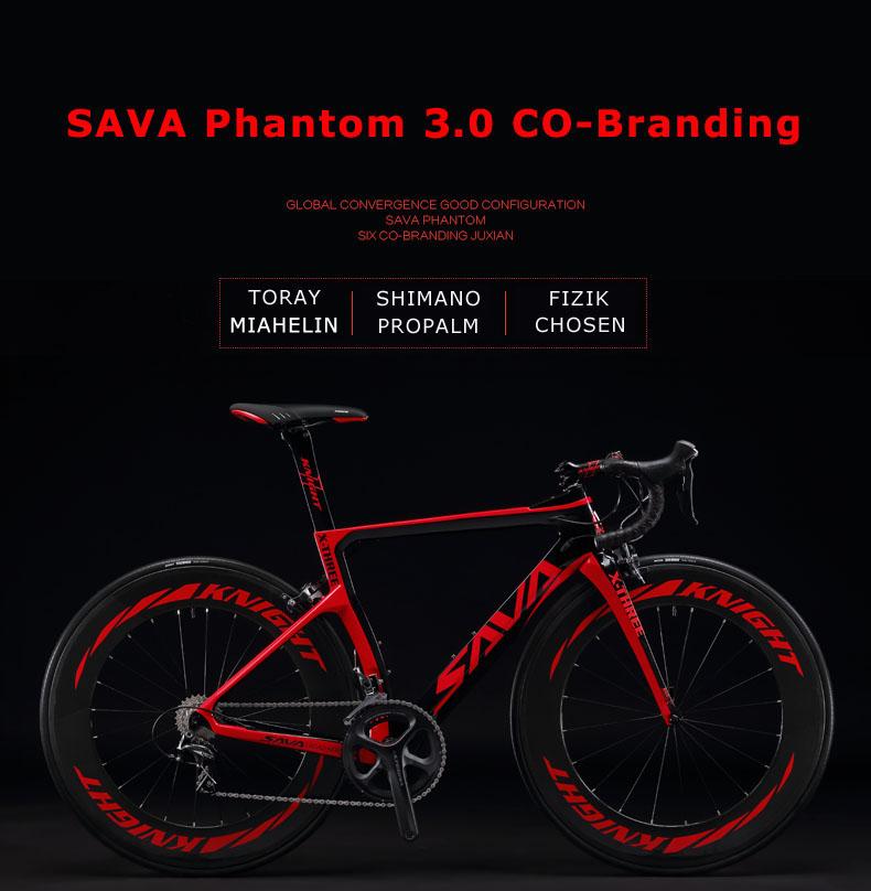 SAVADECK Phantom3.0 Carbon Rennrad 700C Kohlefaser Rennr/äder Fahrrad mit Shimano Ultegra 8000 22 Speed Schaltgruppe Continental Ultra Sport II 25C Reifen und Fizik Sattel